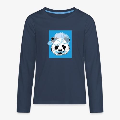 Panda - Cap - Mustache - Teenager Premium Langarmshirt