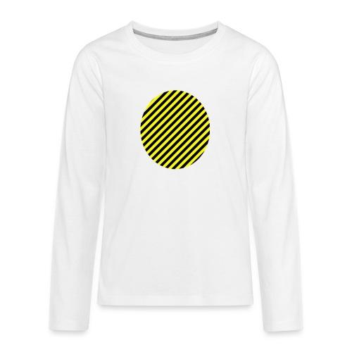 varninggulsvart - Långärmad premium T-shirt tonåring
