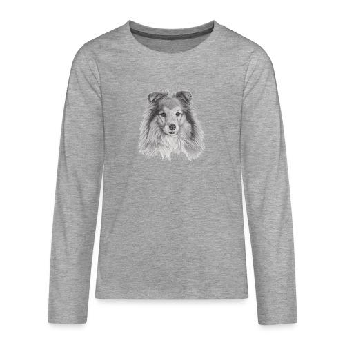 shetland sheepdog sheltie - Teenager premium T-shirt med lange ærmer