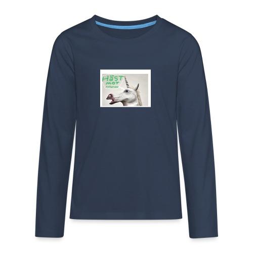 haest mot folkgrupp - Långärmad premium T-shirt tonåring