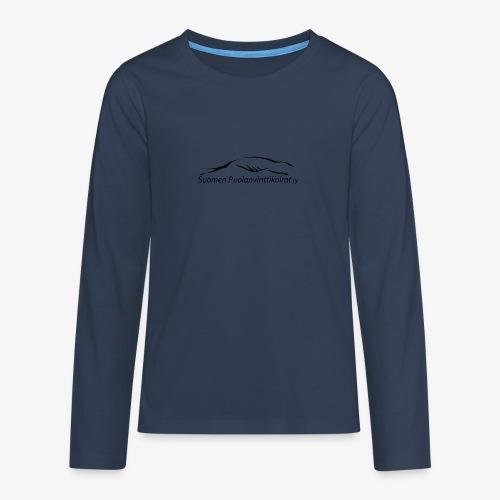 SUP logo musta - Teinien premium pitkähihainen t-paita