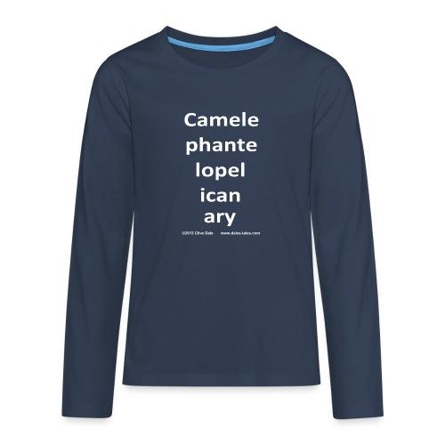 camelepha 5lines white - Teenagers' Premium Longsleeve Shirt