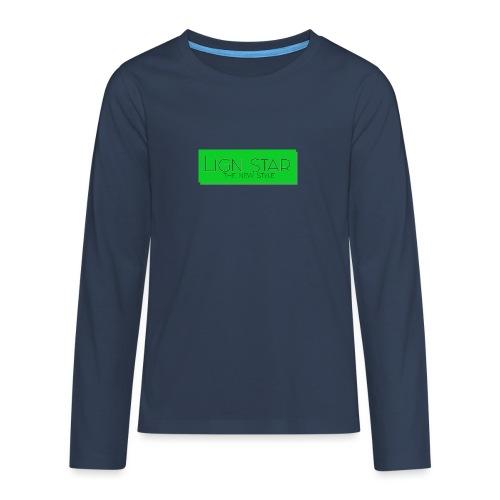 Untitled 3 png - Teenager premium T-shirt med lange ærmer