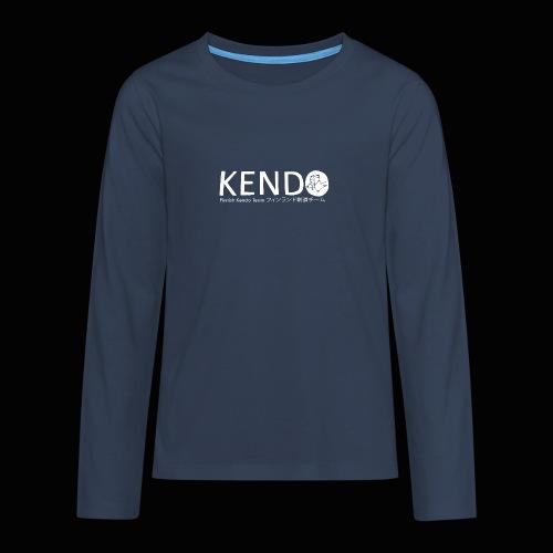 Finnish Kendo Team Text - Teinien premium pitkähihainen t-paita