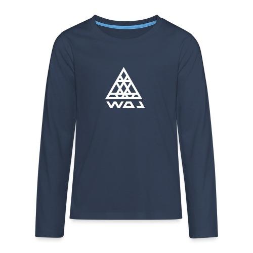 Triangel Konst - Långärmad premium T-shirt tonåring