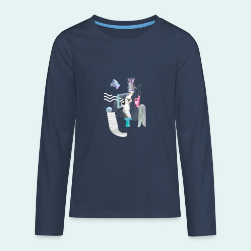 Virtual plaza - Teenager premium T-shirt med lange ærmer
