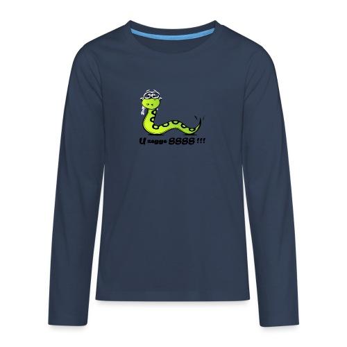 U zegge SSSS !!! - Teenager Premium shirt met lange mouwen