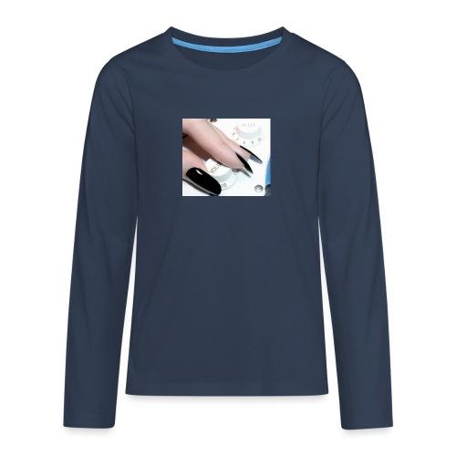 Gothic guitar girl - Koszulka Premium z długim rękawem dla nastolatków
