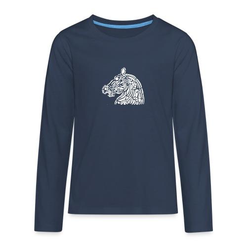 horse - cheval blanc - T-shirt manches longues Premium Ado