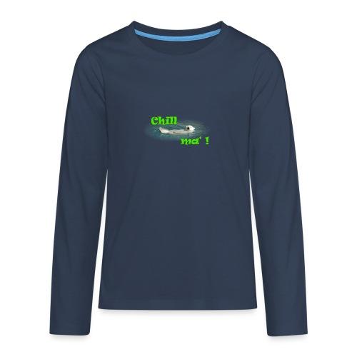 Chill ma'! - Bär - Teenager Premium Langarmshirt