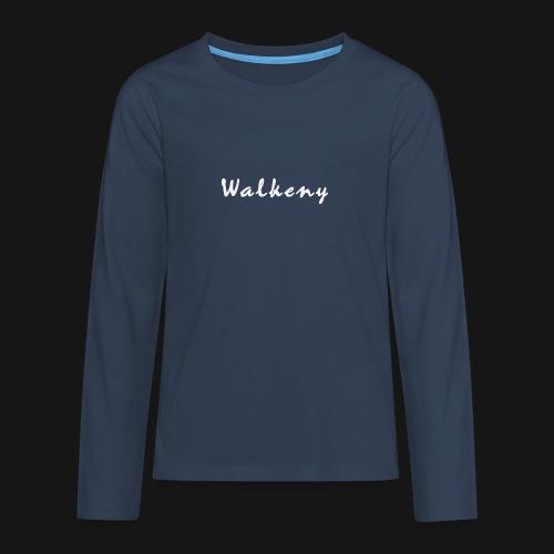 Walkeny Schriftzug in weiß! - Teenager Premium Langarmshirt