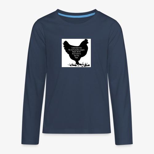 2DE2ADD8 8397 41E2 B462 85931C4D203C - Teenagers' Premium Longsleeve Shirt