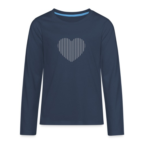 heart_striped.png - Teenagers' Premium Longsleeve Shirt