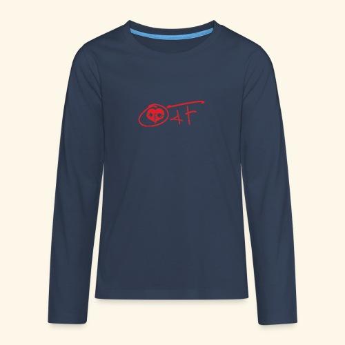 O4F ROSSO - Maglietta Premium a manica lunga per teenager
