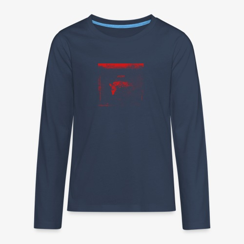 Hyena Red - Långärmad premium T-shirt tonåring