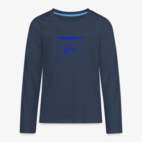 Hyena Blue - Långärmad premium T-shirt tonåring
