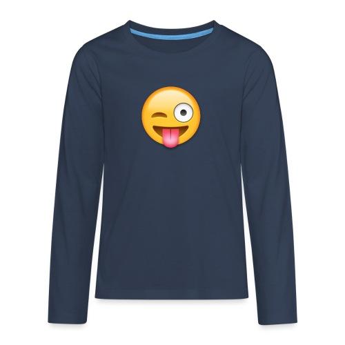 Winking Face - Teenager Premium Langarmshirt