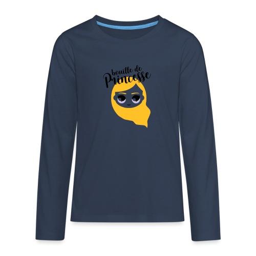 Bouille de princesse (couleurs personnalisables) - T-shirt manches longues Premium Ado