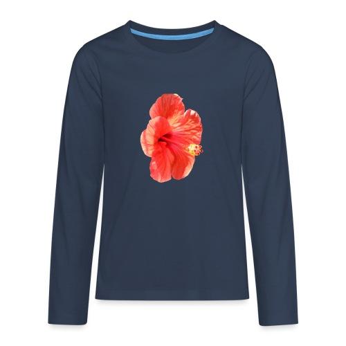 A red flower - Teenagers' Premium Longsleeve Shirt