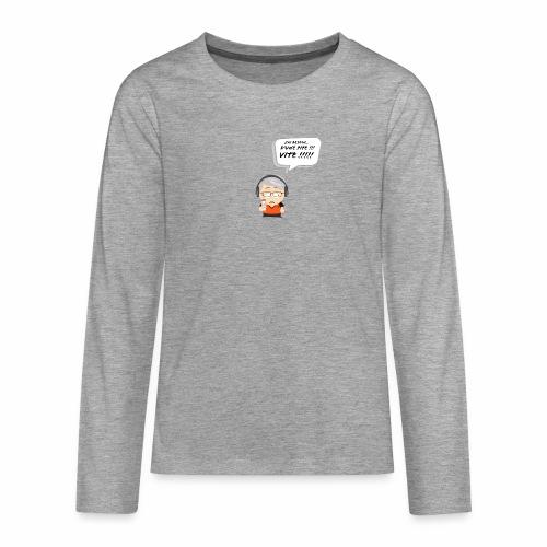 Le Vieux Bourré - T-shirt manches longues Premium Ado