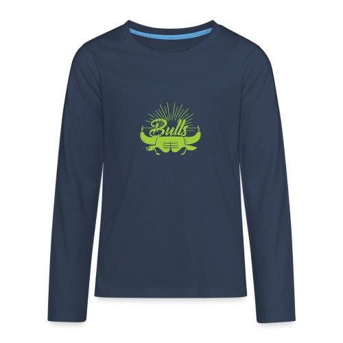 Toros verdes, Bulls BasketBall deporte - Camiseta de manga larga premium adolescente