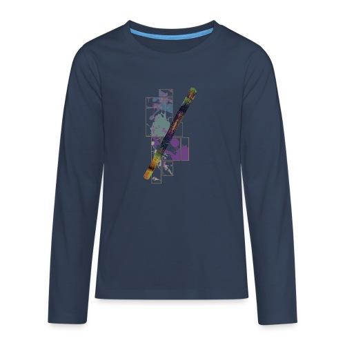 Circuito Trance music jade - Camiseta de manga larga premium adolescente