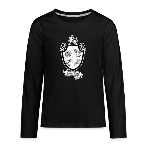 BBQ King - Maglietta Premium a manica lunga per teenager