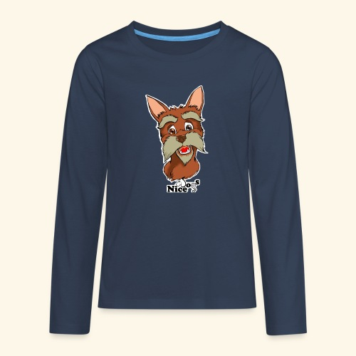 Nice Dogs schnauzer - Maglietta Premium a manica lunga per teenager