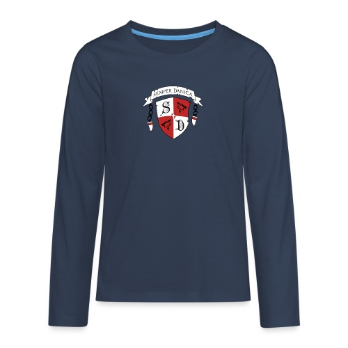 SD logo - sorte lænker - Teenager premium T-shirt med lange ærmer