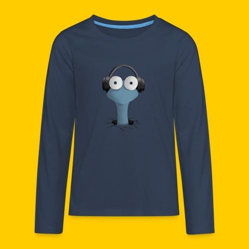 Musicworm - Långärmad premium T-shirt tonåring