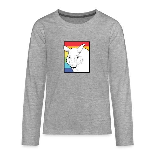 Tapir mit Regenbogen Farben - Teenager Premium Langarmshirt