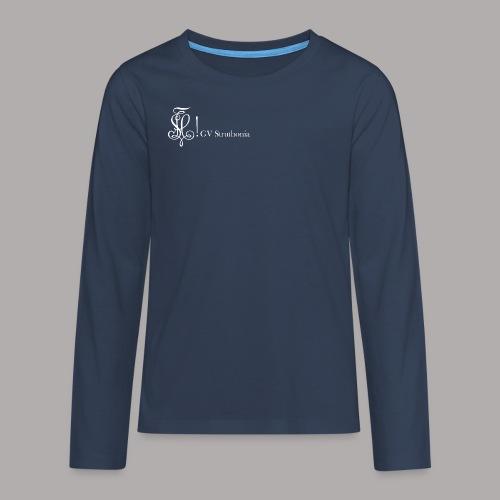 Zirkel mit Name, weiss (vorne) - Teenager Premium Langarmshirt