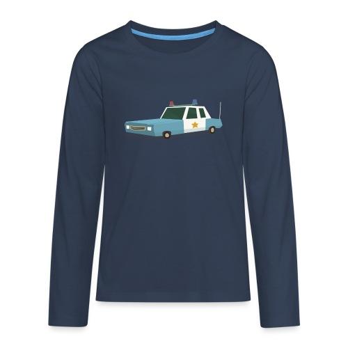 Police car t shirt - Teenagers' Premium Longsleeve Shirt