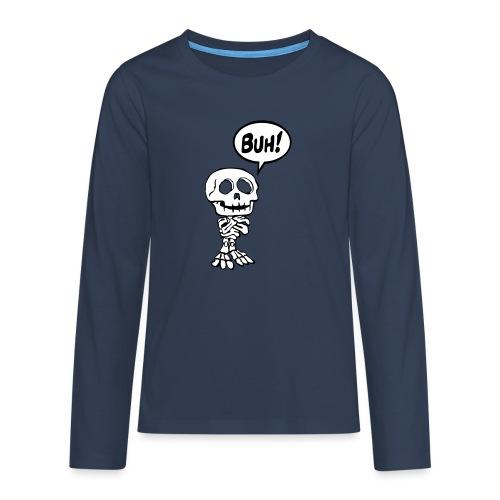 Funny Skelett 1 buh (2f) - Teenager Premium Langarmshirt