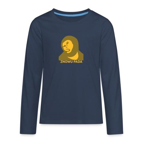 Znowu pada Jeżus z Borja - Koszulka Premium z długim rękawem dla nastolatków