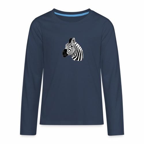 Cooles Zebra - Teenager Premium Langarmshirt