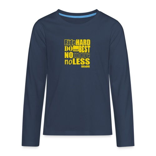 ridehard yellow - Teenagers' Premium Longsleeve Shirt