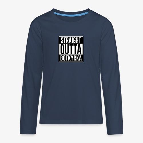Straight Outta Botkyrka - Långärmad premium T-shirt tonåring