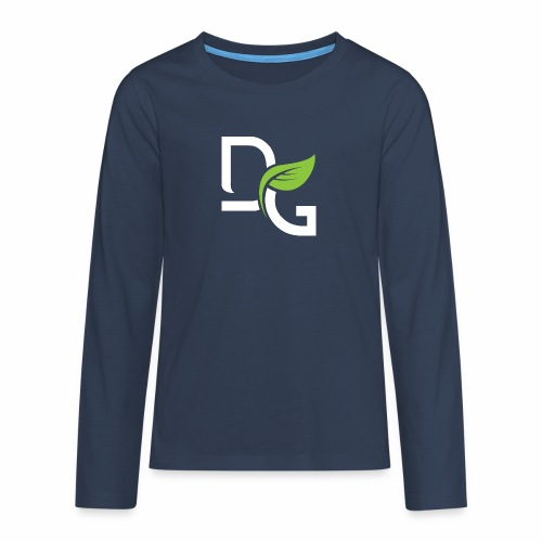 DrGreen Logo Symbol weiss grün - Teenager Premium Langarmshirt