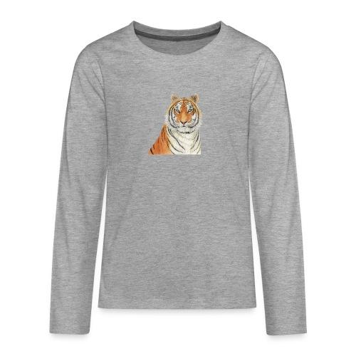 Tigre,Tiger,Wildlife,Natura,Felino - Maglietta Premium a manica lunga per teenager