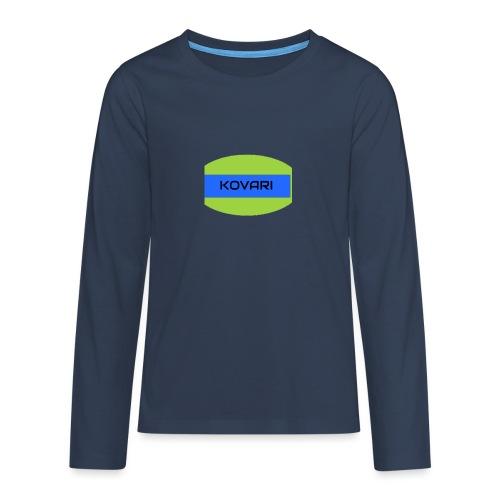 Kovari Logo - Teinien premium pitkähihainen t-paita