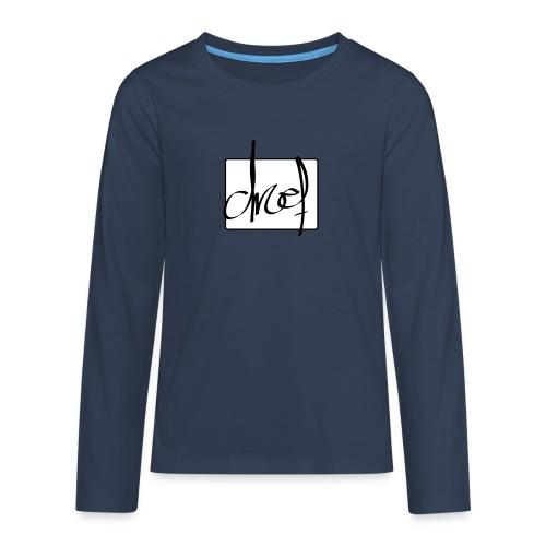 Droef.Gent logo zwart - Teenager Premium shirt met lange mouwen