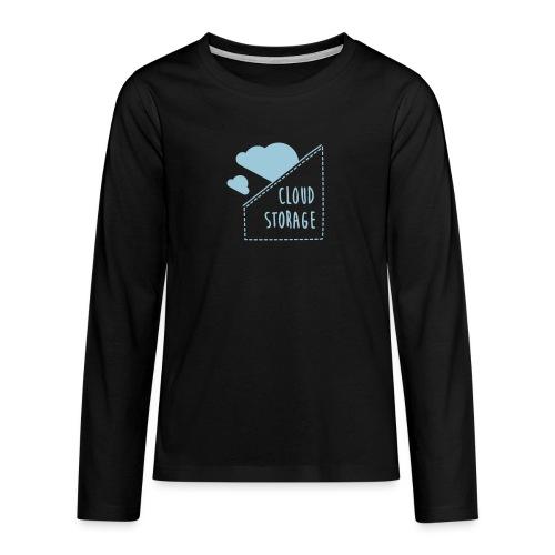 Cloud Storage - Teenager Premium Langarmshirt