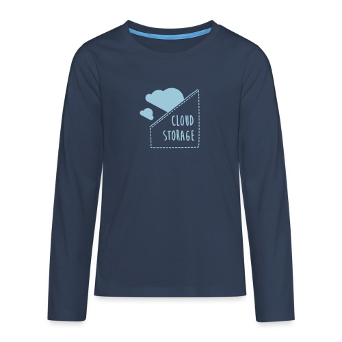 Cloud Storage - Teenager Premium Langarmshirt