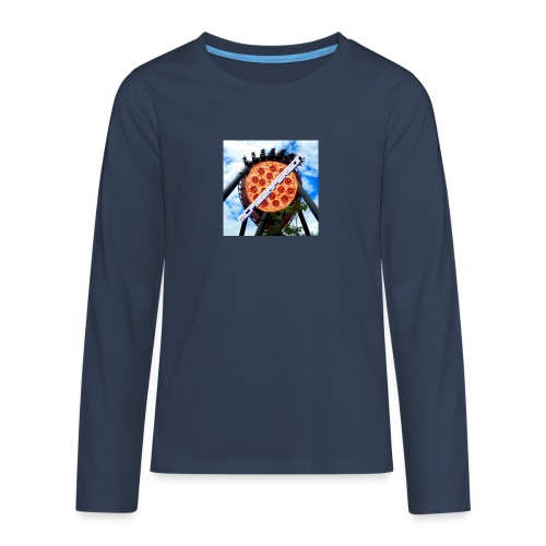 Old McPizzaPerson Logo #2 - Teenagers' Premium Longsleeve Shirt