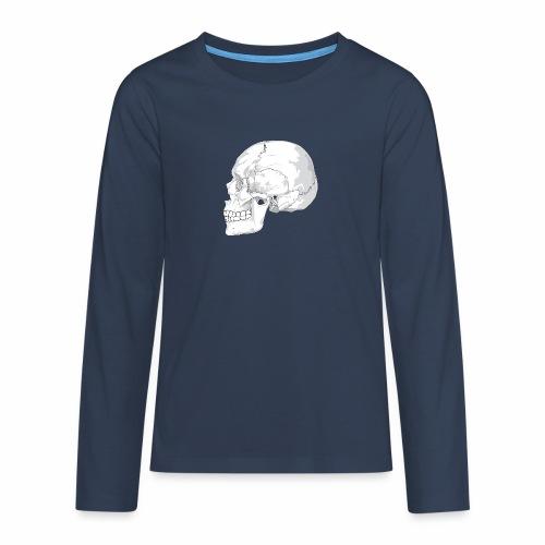 Schädel - Teenager Premium Langarmshirt