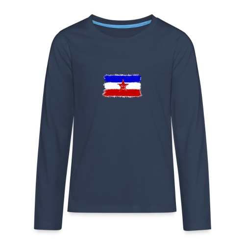 Jugo Flagge 1 Handy png - Teenager Premium Langarmshirt
