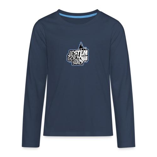 Jestem-Z-Gorzowa-Suko! - Koszulka Premium z długim rękawem dla nastolatków