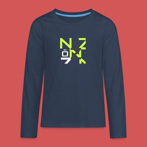 Nörthstat Group™ Clear Transparent Main Logo - Teenagers' Premium Longsleeve Shirt