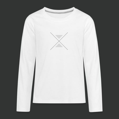 triangles-png - Teenagers' Premium Longsleeve Shirt